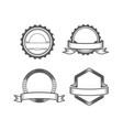 set emblem vector image vector image