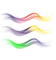 set headers with colorful spectrum abstract vector image