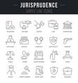 set line icons jurisprudence vector image