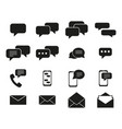 set of message communication icons vector image