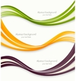 Set of wavy banners vector image vector image