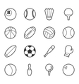 set sport icons eps10 format vector image vector image