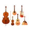 set stringed musical instruments collection of vector image vector image