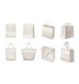 shopping bag realistic set vector image