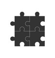 simple puzzle icon flat vector image