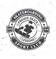 skateboarding sport club badge vector image vector image