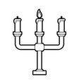 Sketch silhouette image candlestick with base and
