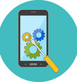 Smartphone repair concept Flat design Icon in vector image
