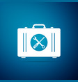 toolbox icon isolated on blue background vector image