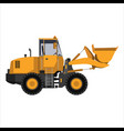 tractor with a bucket vector image vector image