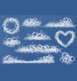 transparent foam texture blue foam soapy or vector image