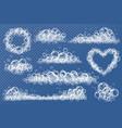 transparent foam texture blue foam soapy vector image vector image