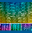 triangle abstract background 12 vector image vector image