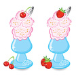Two bowls icecream vector | Price: 1 Credit (USD $1)