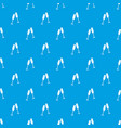 two glasses of champagne pattern seamless blue vector image vector image