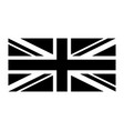 united kingdom flag union jack uk flag black and vector image