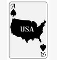 usa playing card ace spades vector image