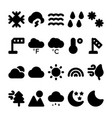 weather glyph icons set 2 vector image vector image