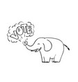 white elephant vote drawing vector image vector image