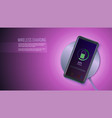 wireless charging technology concept top view vector image vector image