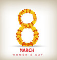 Womens day background vector image vector image