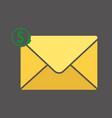 yellow gift card icon money concept xmas vector image