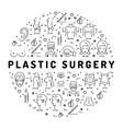 Flat infographics Plastic Surgery Medical linear vector image