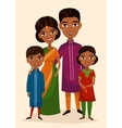 Happy indian family couple with children vector image