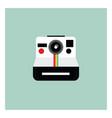 a polaroid camera or color vector image