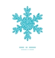 abstract underwater plants Christmas snowflake vector image