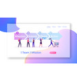 aida model with 4 stages sales website landing vector image
