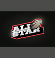 all star modern professional typography rugby vector image vector image