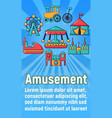 amusement concept banner cartoon style vector image vector image