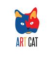 art cat vector image vector image
