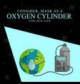 banner design mask as a oxygen vector image