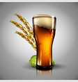 beer background highly realistic with the effect vector image vector image