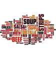 best recipes taco soup text background word cloud vector image vector image