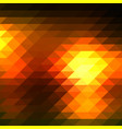 black orange yellow rows of triangles background vector image