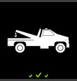 breakdown truck it is white icon vector image vector image