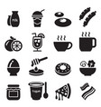 breakfast icons set1 vector image vector image