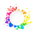 bright colorful paint splashes watercolor drops vector image