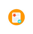 bug report icon flat vector image vector image