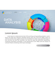 business analysis chart vector image vector image