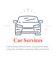 car icon auto services concept vector image vector image