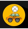 car taxi tools repair icon design vector image vector image