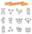 Chinese New Year Icons Object vector image vector image