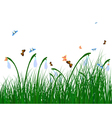 Color meadow vector image