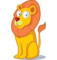 cute cartoon lion drawing vector image vector image