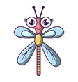 dragonfly icon cartoon style vector image