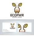 eco energy logo design vector image vector image